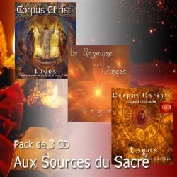 PACK 3 CD AUX SOURCES DU SACRE